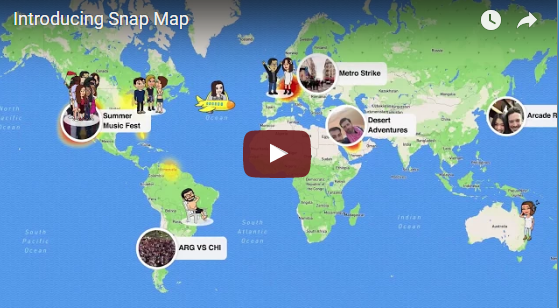New Snapchat Locations Feature, Enstep Technology Solutions