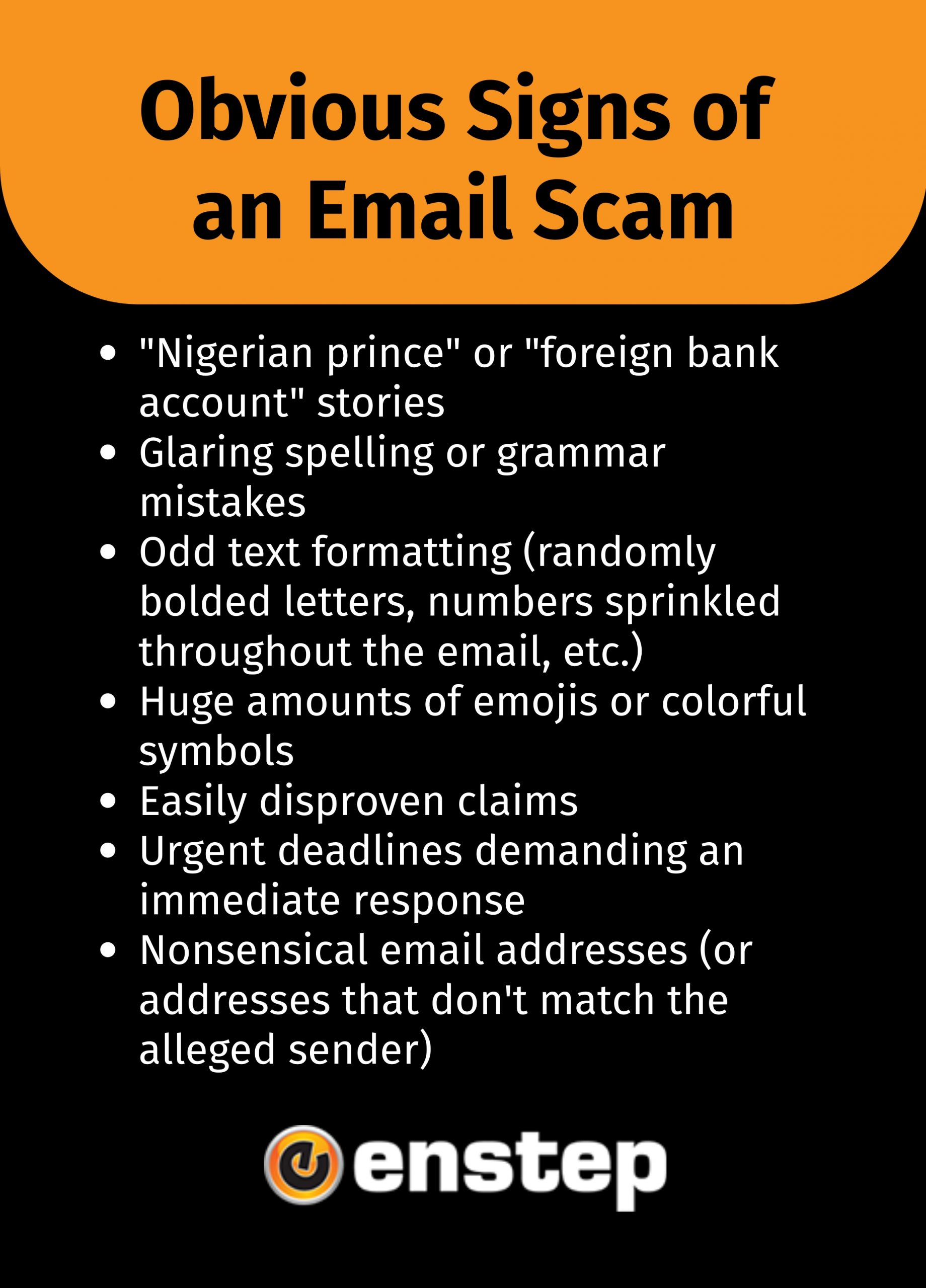 How to Identify an Email Scam, Enstep Technology Solutions, Houston